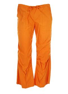 nais pantacourts femme de couleur orange