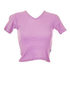 teddy smith t-shirts fille de couleur parme