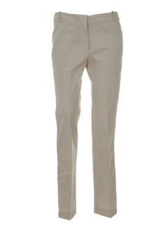 Pantalon casual beige LES PRAIRIES DE PARIS pour femme