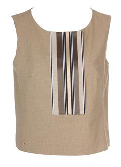 sportmax t-shirts femme de couleur beige
