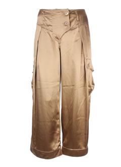 sportmax pantacourts femme de couleur bronze