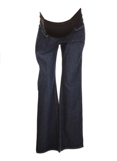 Jeans coupe large bleu fonce PAIGE MATERNITY pour femme