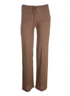 marella pantalons femme de couleur marron clair