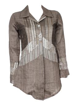coco menthe vestes femme de couleur bronze
