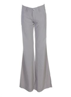 charlie joe pantalons femme de couleur gris perle