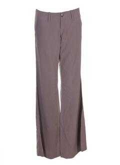 charlie joe pantalons femme de couleur marron clair
