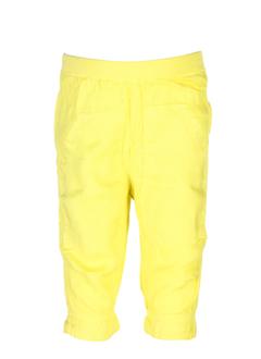 taille 0 pantalons fille de couleur jaune
