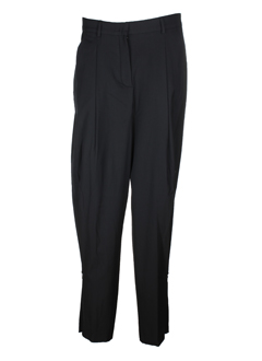 sportmax pantalons femme de couleur noir