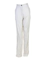 Pantalon casual ecru LILIANE H pour femme seconde vue