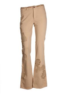 eclectic mood pantalons femme de couleur camel