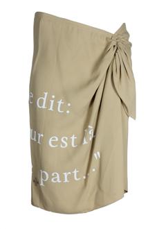 castelbajac jupes femme de couleur camel
