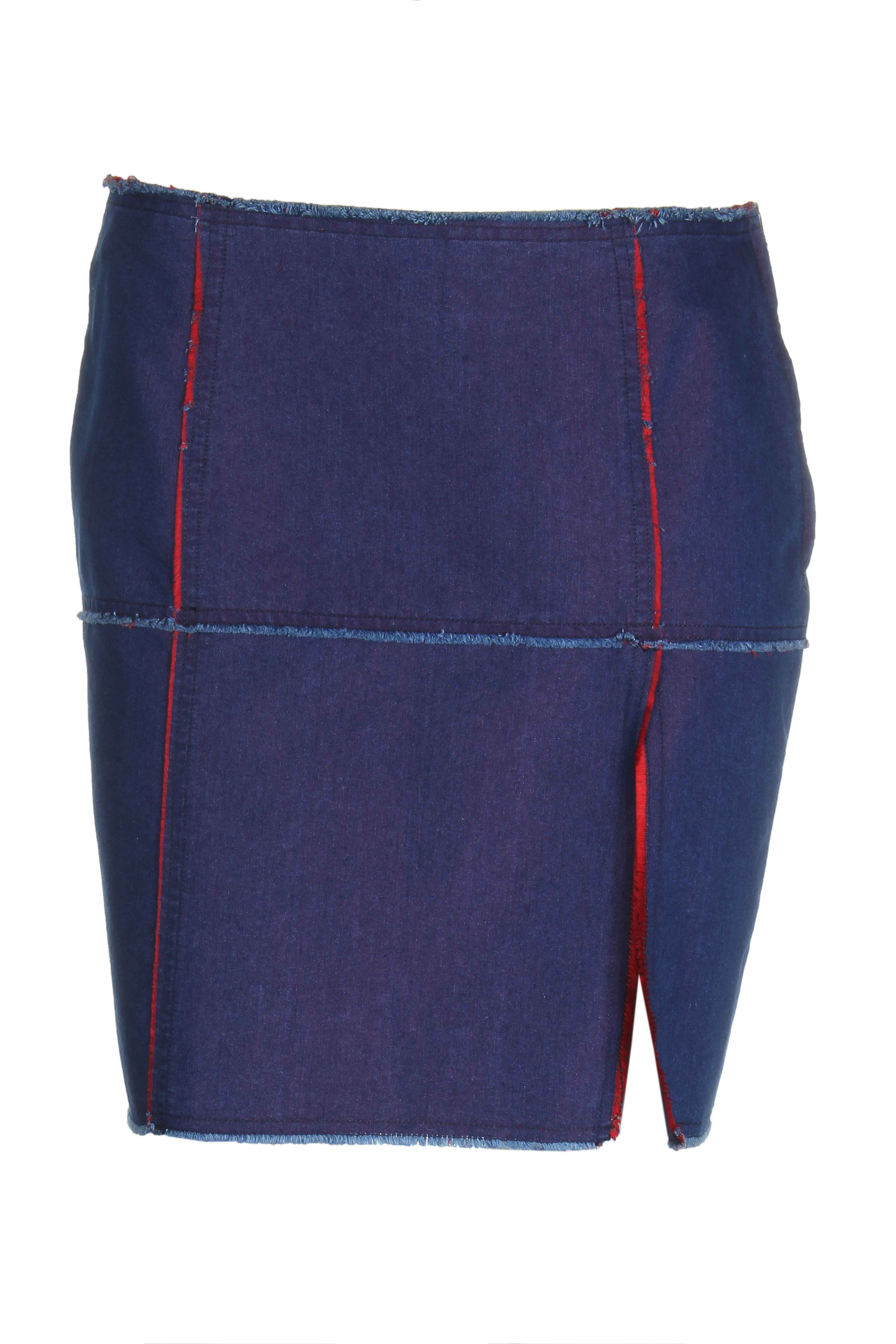 moschino jupes femme de couleur bleu fonce