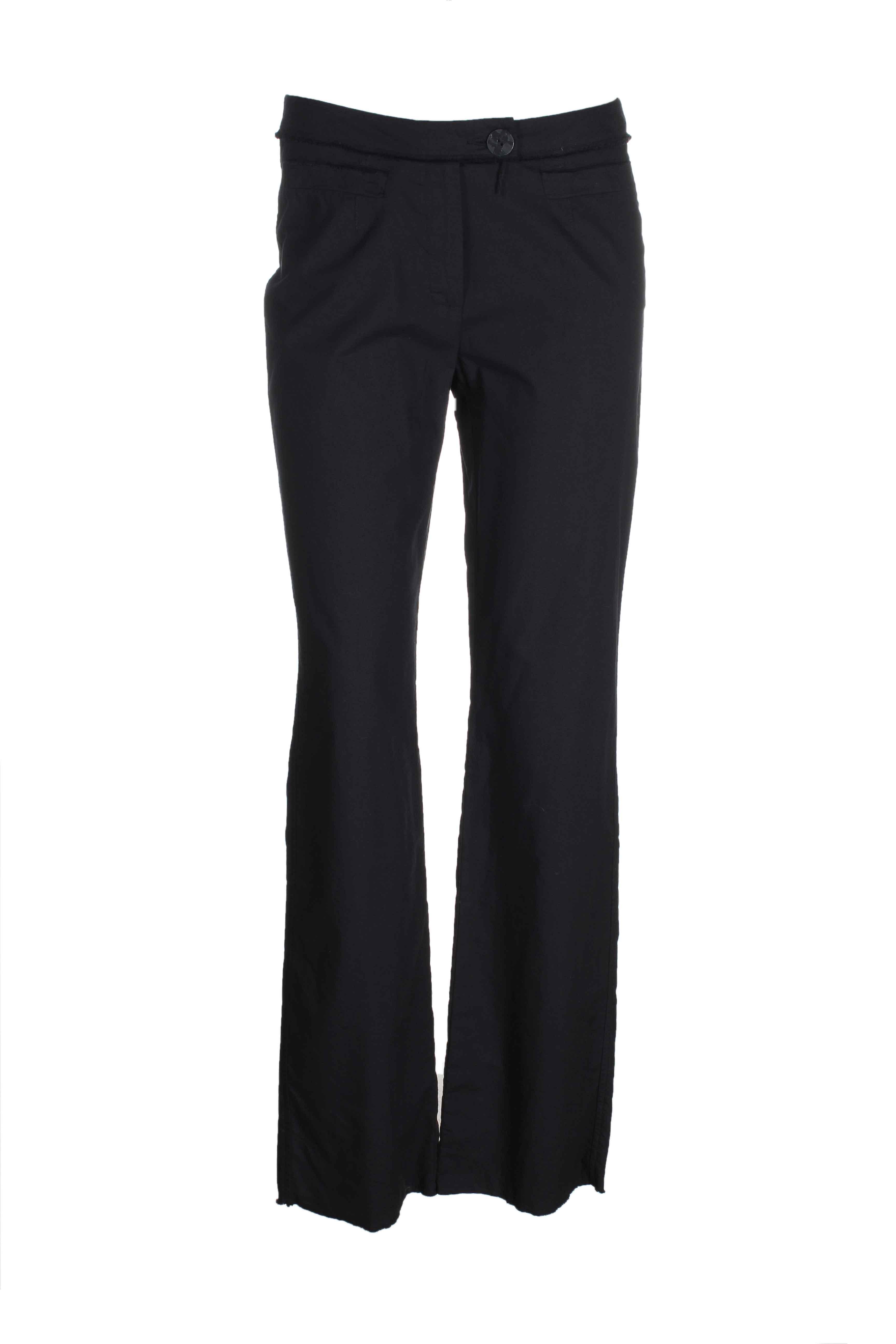 kathleen madden pantalons femme de couleur noir
