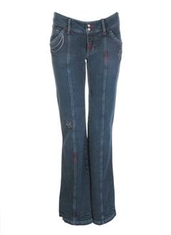 pje jeans fille de couleur bleu