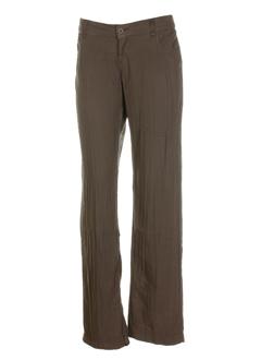 european culture pantalons femme de couleur marron