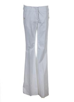 sportmax pantalons femme de couleur blanc