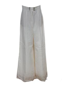 sportmax pantalons femme de couleur ecru