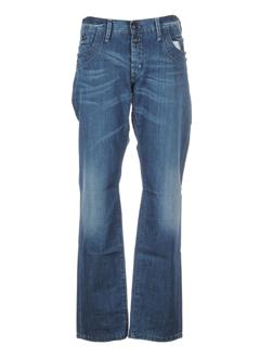 stone aged jeans homme de couleur bleu
