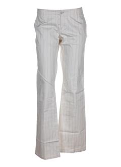 freeman t.porter pantalons femme de couleur ecru