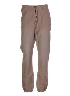 scotch pantalons femme de couleur beige