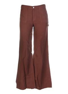cimarron pantalons femme de couleur chocolat