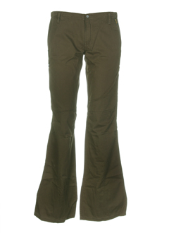 teddy smith pantalons femme de couleur kaki