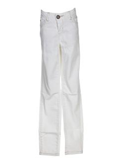 guess jeans pantalons fille de couleur blanc