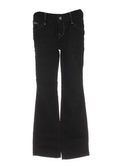 guess jeans pantalons fille de couleur noir