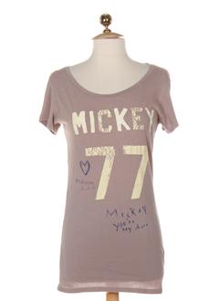 maison scotch t-shirts femme de couleur vieux rose