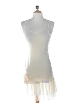 molly bracken robes femme de couleur ecru