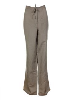 epicea pantalons femme de couleur taupe