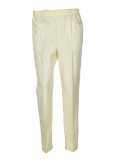 jean leduc pantalons femme de couleur ivoire
