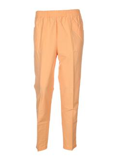jean leduc pantalons femme de couleur peche