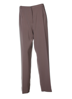 modissimo pantalons femme de couleur marron glace