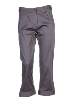 lino factory pantalons femme de couleur gris perle