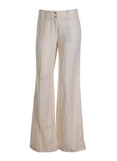 cambio pantalons femme de couleur ecru