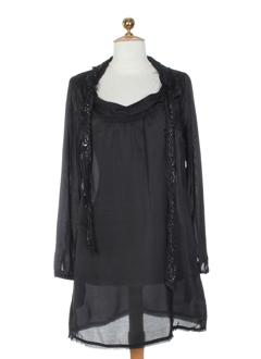 Robe mi-longue noir DKNY pour femme
