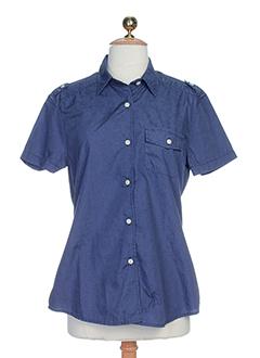 teddy smith chemises femme de couleur bleu fonce