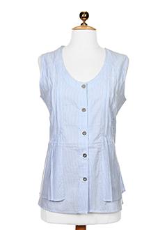 thalassa chemises femme de couleur bleu ciel