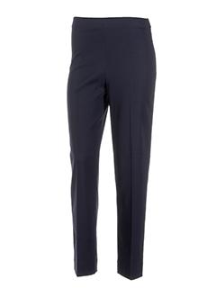 lauren vidal pantalons femme de couleur bleu fonce