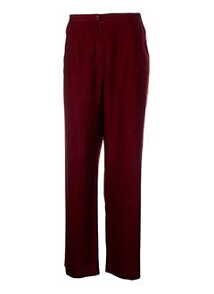 brigitte saget pantalons femme de couleur bordeaux