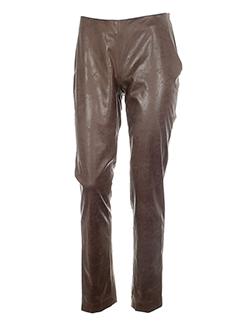 fairly pantalons femme de couleur marron