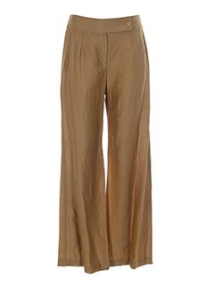 batiste pantalons femme de couleur camel