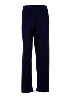 atlanta pantalons femme de couleur bleu fonce