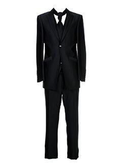 carlo et pignatelli pantalon et veste homme de couleur noir