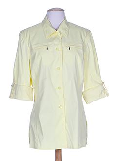 hucke woman chemises femme de couleur jaune