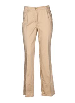 cavita pantalons femme de couleur beige