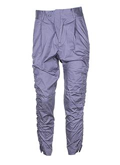 rutzou pantalons femme de couleur violet