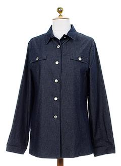 francois favel vestes femme de couleur bleu fonce