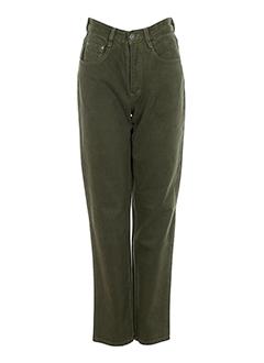 rosa rosam jeans femme de couleur vert fonce